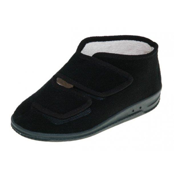 Damer, hjemmesko - pantofino - Sort