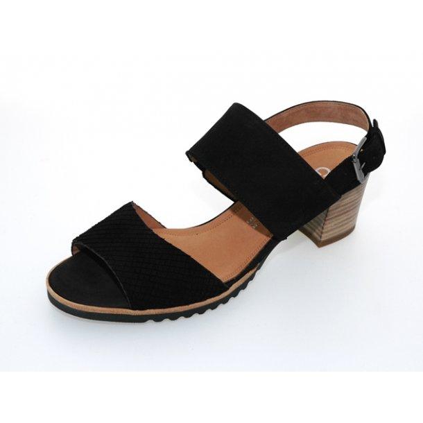 Damer, sandaler - Gabor - 42.385 - Sort