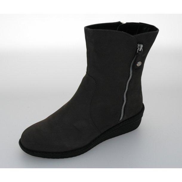 Caprice dame vinterstøvle med kilehæl 26443  - Grå