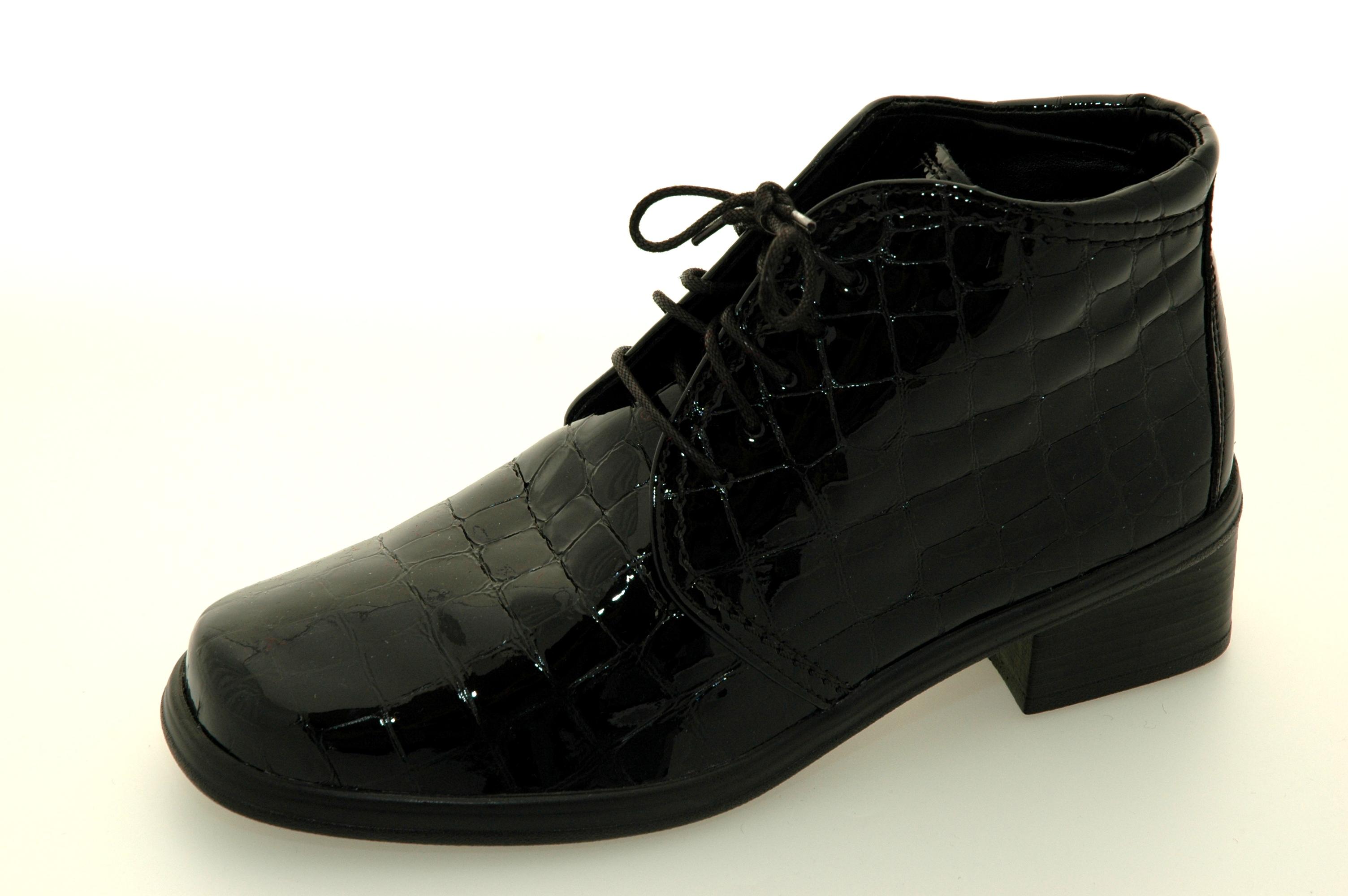 gabor støvletter sort, Sort gabor lakk sko dame, gabor