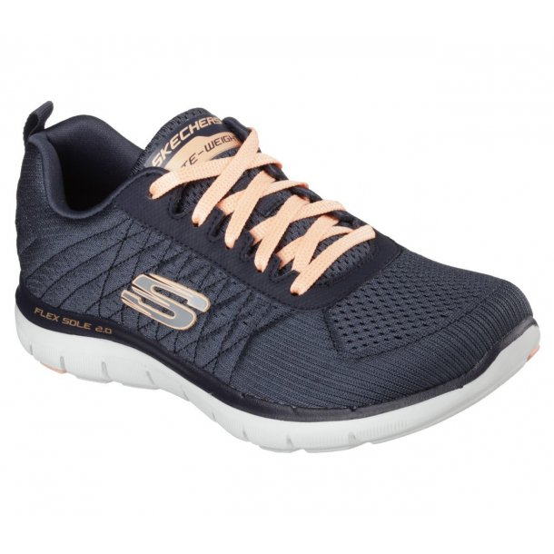 Skechers damesnøresko 12757 - navy