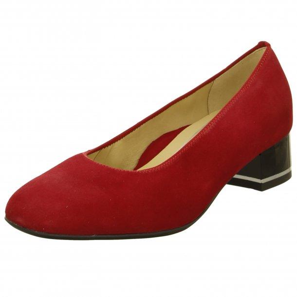 Ara damepump med ekstra vidde, High Soft 11838 - rød ruskind